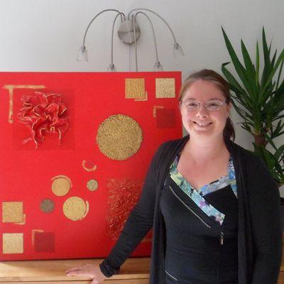 Marie Vinouse, créatrice plasticienne, tableaux abstraits et décoration de bord de mer