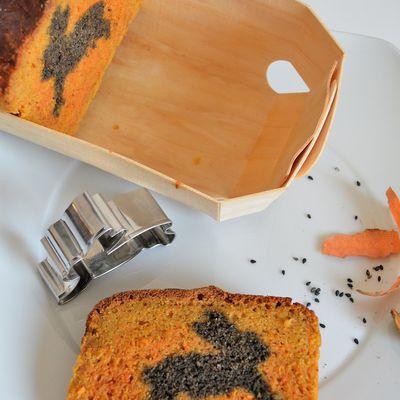 Cake surprise Carottes Sésame Noir Parmesan ... pour les 5 ans du blog