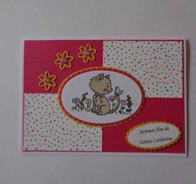 Des petites cartes pour la Sainte Catherine
