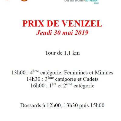 [Cyclosport] Course de VENIZEL du 30/05/19