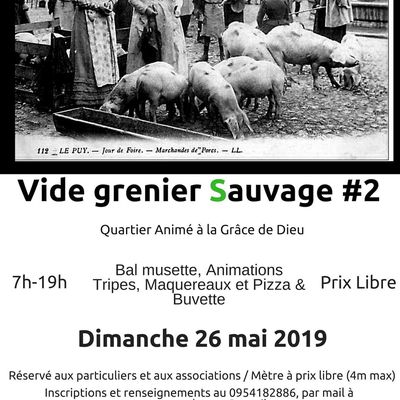 Vide Grenier 26 Mai 2019, Caen.