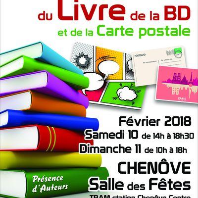 SALON du LIVRE et de la BD de Chenôve (Côte d'Or) – 10 et 11 février 2018