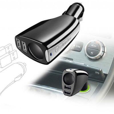[Test] Chargeur voiture deux ports USB Cellular Line