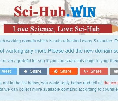 Research Papers and Scientific Articles for free with Sci-Hub