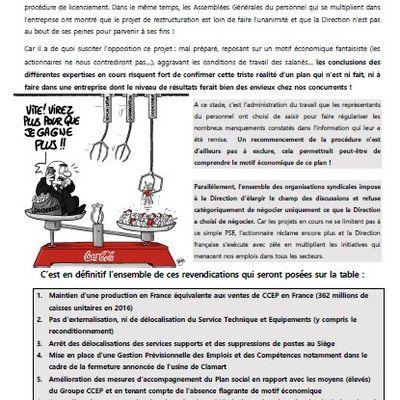 CHEZ CCEP FRANCE LA MOBILISATION POUR L EMPLOI S AMPLIFIE