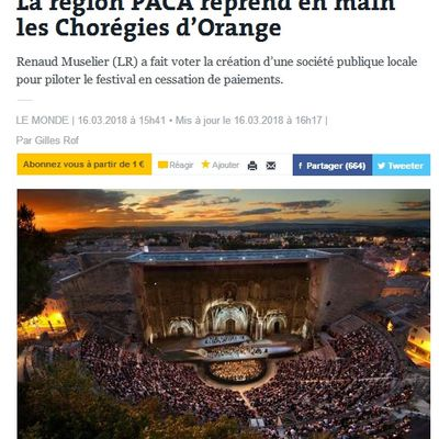 Chorégies d'Orange dans la presse nationale