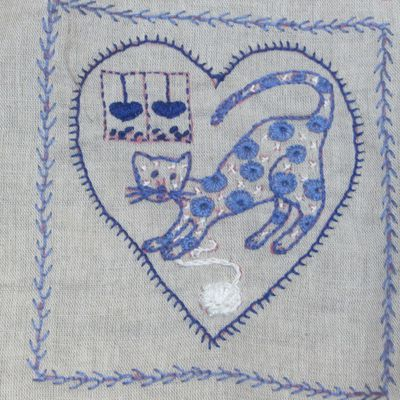 """Broderie : """"Trois petits chats"""""""