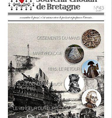 REVUE N° 43 DU SOUVENIR CHOUAN de BRETAGNE