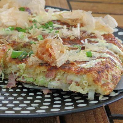 Okonomiyaki au chou chinois