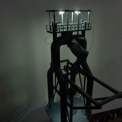 L'éclairage du haut-fourneau