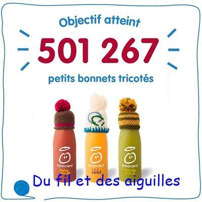 """Opération """"Mets ton bonnet""""#Décembre 2016 /Janvier2017."""