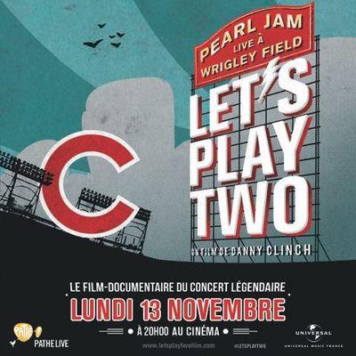 Let's Play Two de Pearl Jam au cinéma en France et en Belgique le 13 novembre