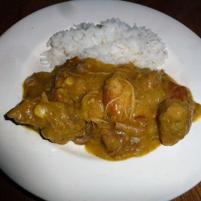 Sauté de porc au curry
