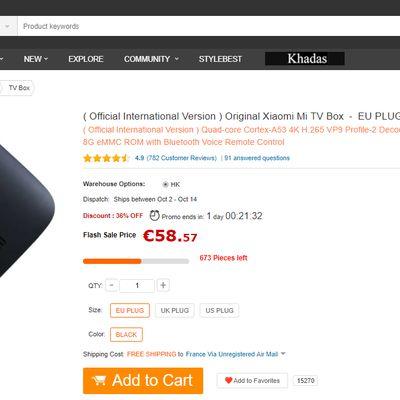 """Test de la passerelle multimédia """"Xiaomi Mi TV Box 4K"""" sous Android TV 6.0 de GEARBEST"""