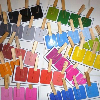 Les nuanciers des couleurs Montessori