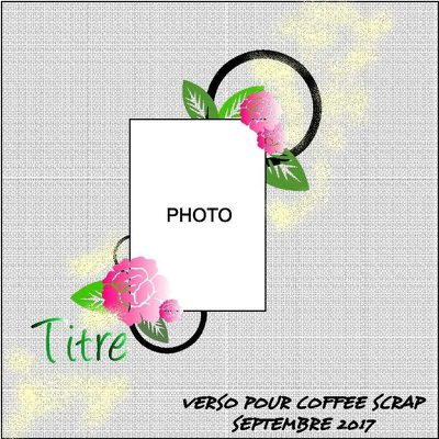 Le sketch de page de septembre sur le Coffee Scrap
