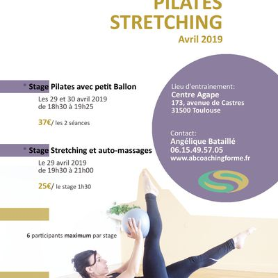 Stage Pilates et Stretching - avril 2019