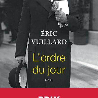 L'ordre du our - Eric Vuillard