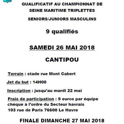Qualif triplette Masculin & Championnat Triplette Féminin
