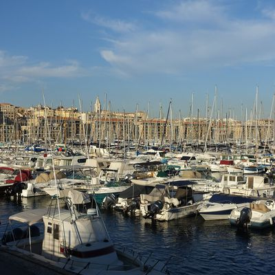 Marseille son port , sa corniche