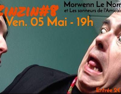 Morwenn Le Normand et Ronan Pinc au Zinzin à Grand bois le Vendredi 5 Mai à 19h