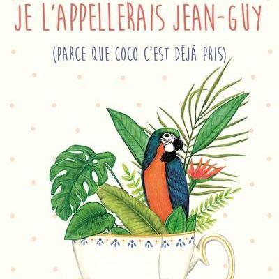 """""""Si j'avais un perroquet je l'appellerais Jean-guy (parce que Coco c'est déjà pris)"""" de Blandine Chabot"""