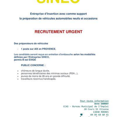 SINEO Recrute contrat IAE