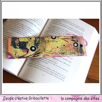 """Marque-page """"Herbes folles""""_IC La Compagnie des Elfes"""