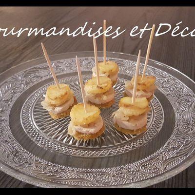 Bouchées foie gras et pommes