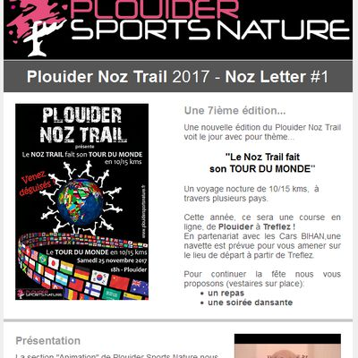 Noz Letter #1 - Plouider Noz Trail 2017