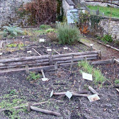 Le jardin médiéval vandalisé.