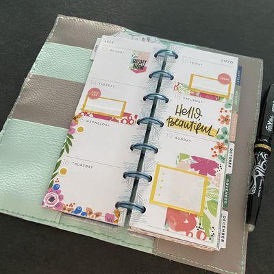 Plan with Me: Mini Skinny happy planner_ Semaine 29