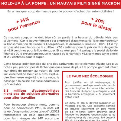 HOLD-UP À LA POMPE : UN MAUVAIS FILM SIGNÉ MACRON