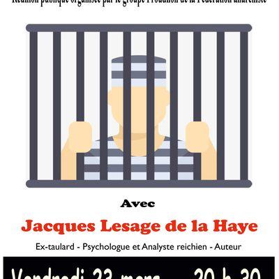 Réunion publique avec Jacques Lesage de la Haye