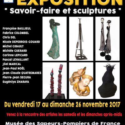 """Pascal Levaillant à l'Exposition """"Savoir-faire et sculptures"""" de Montville du 18 au 26 novembre 2017"""