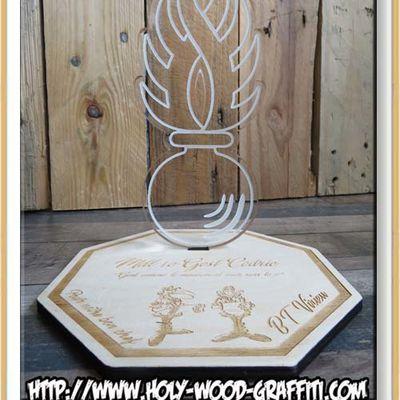 Un trophée en cadeau pour le départ de leur chef Gendarme