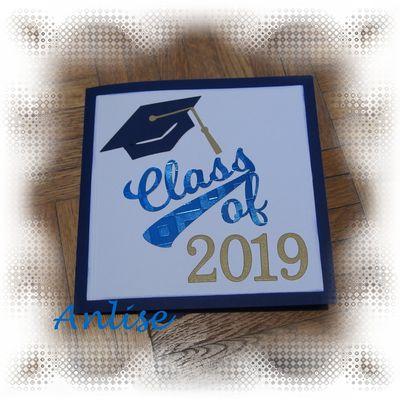 Graduation card + fichier silhouette