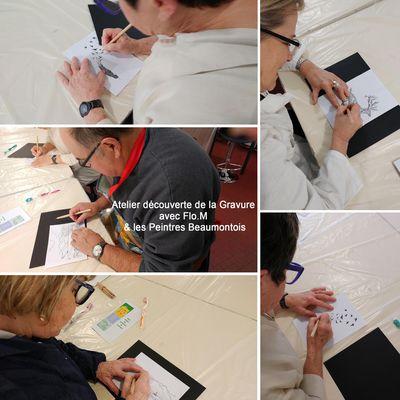L'atelier Gravure avec les Peintres Beaumontois en images