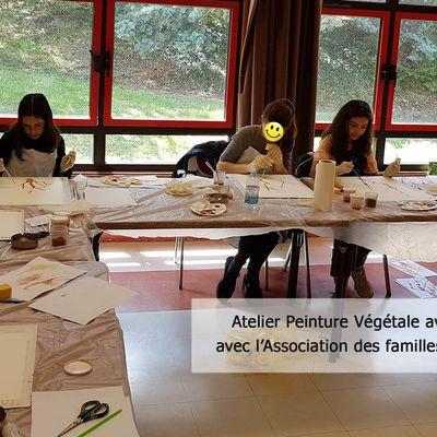 Les enfants découvrent la peinture végétale avec FloM