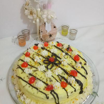 Gâteau d'anniversaire à l'orange