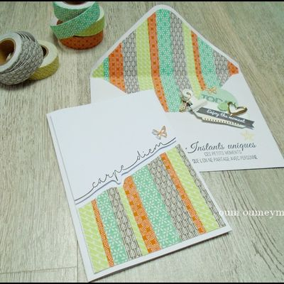 une carte masking tape