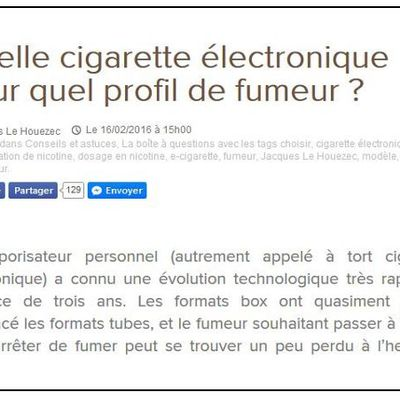 Message à l'attention de ceux qui veulent essayer la vape !