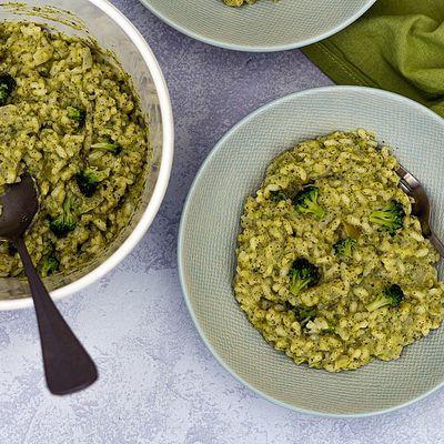 Risotto au brocoli et boursin