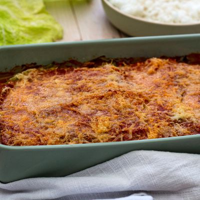 Gratin de chou vert façon lasagne
