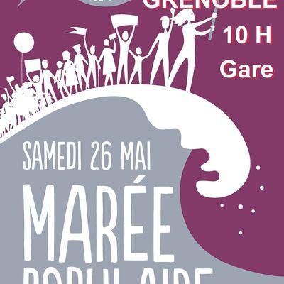 Marée Populaire 26 mai 2018 manifestation ensemble 10H Gare de Grenoble