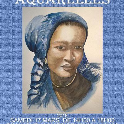 Saint-Brieuc le 17 mars : Exposition Aquarelles