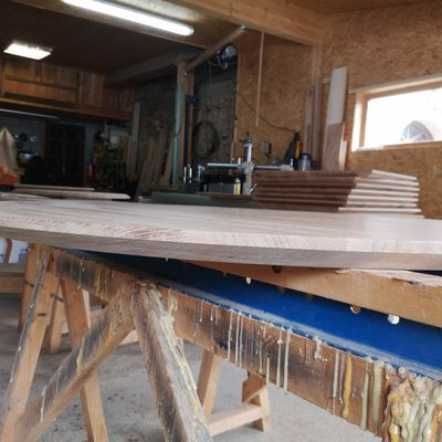 Fabrication plateau de table rond