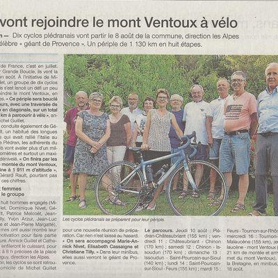 Plédran- Mont Ventoux dans la presse