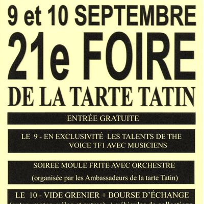 Foire au Pays de la Tarte TATIN des 9 et 10 septembre 2017