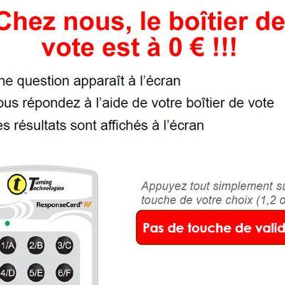 Du jamais vu ! Nos boitiers de vote sont à 0 euros !!!